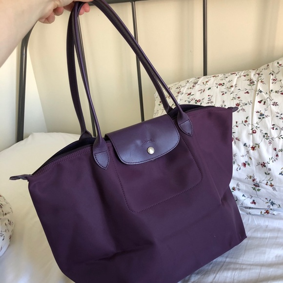 super popular dfc8a c5f84 Longchamp Handbags - Longchamp Le Pliage Neo Large Nylon Tote purple